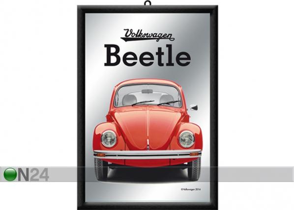Retro reklaampeegel VW Beetle punane SG-73510