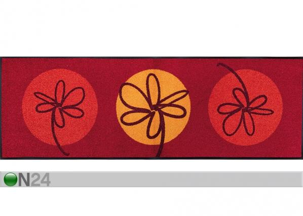 Vaip Fleurette rouge 60x180 cm A5-74165