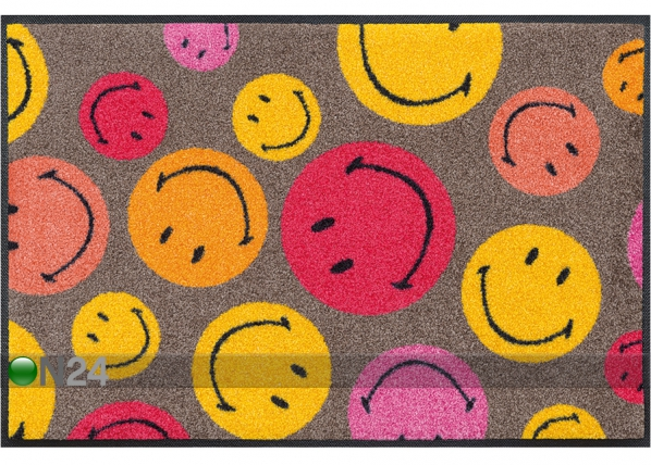 Vaip Smiley Mixed Smileys pink 50x75 cm A5-74182