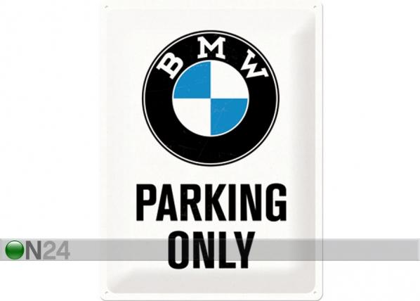 Retro metallposter BMW Parking only 30x40cm SG-74245