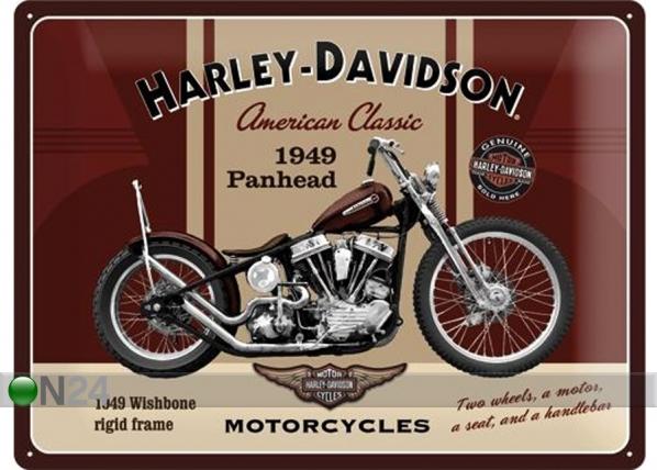 Retro metallposter Harley-Davidson Panhead 30x40cm SG-74259
