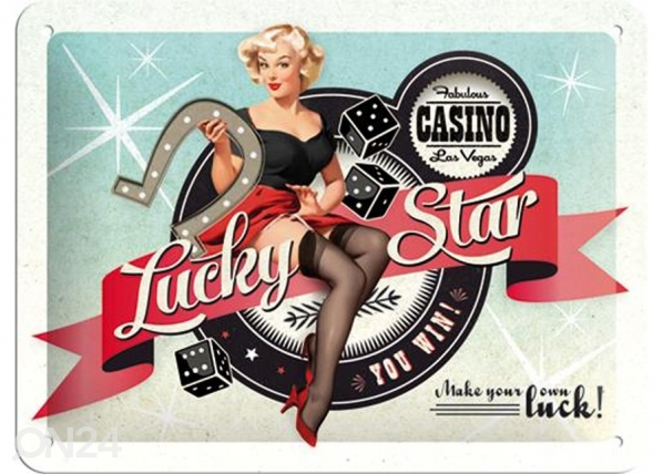 Retro metallposter Lucky Star 15x20cm SG-74264