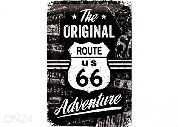 Retro metallposter Route 66 The Original Adventure 20x30cm SG-74267