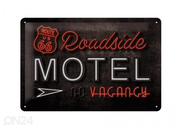 Retro metallposter Route 66 Roadside Motel 20x30cm SG-74268