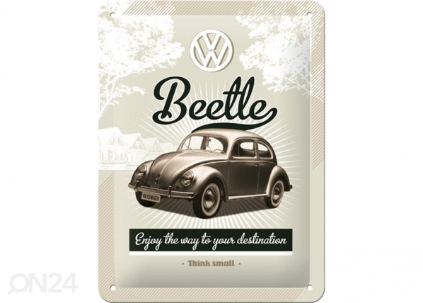 Retro metallposter VW Beetle 15x20cm SG-74272