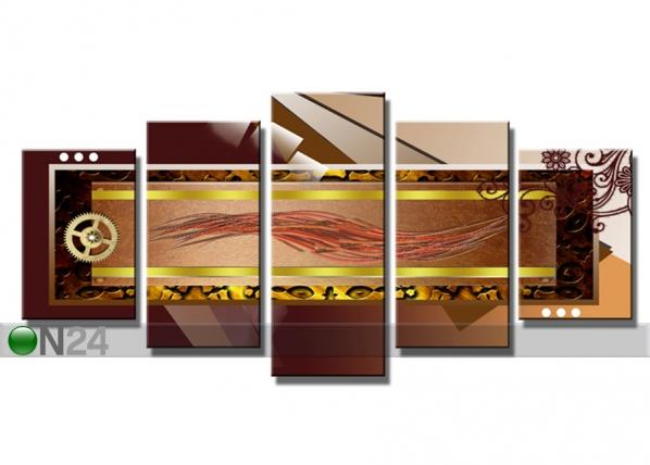 Viieosaline seinapilt Abstrakt 200x100 cm ED-75051
