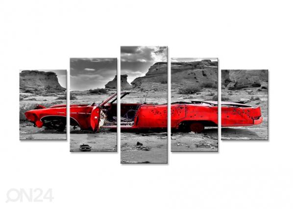 Viieosaline seinapilt Auto 200x100 cm ED-75055
