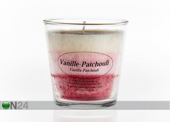 Palmivahaküünal klaasis Vanill-Patšuli CO-77654