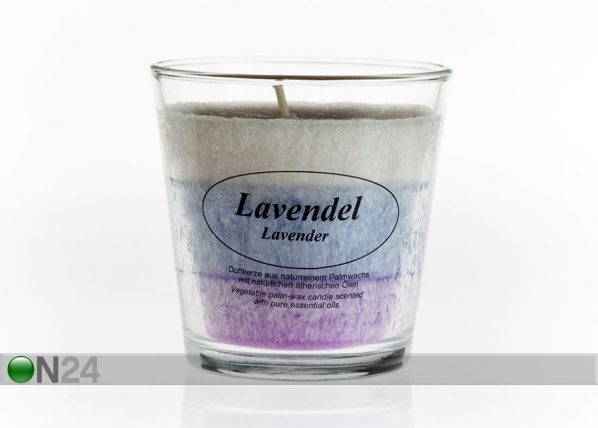 Palmivahaküünal klaasis Lavendel CO-77662