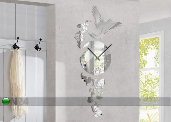 Dekoratiiv seinakell Clock mirror ED-78002