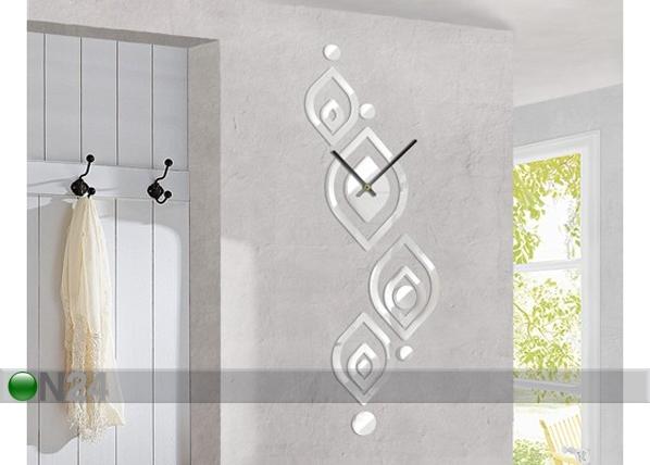 Dekoratiiv seinakell Leave pattern white ED-78004