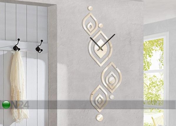 Dekoratiiv seinakell Leave pattern cream ED-78006