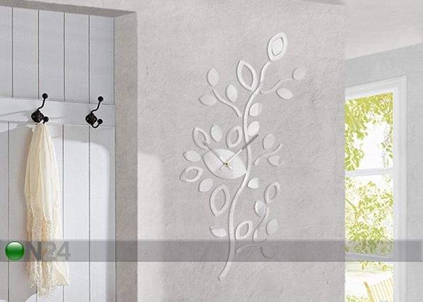 Dekoratiiv seinakell Leaves white ED-78008