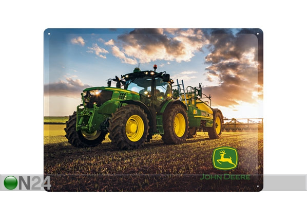 Retro metallposter John Deere Photo Model 6150 R 30x40cm SG-78381