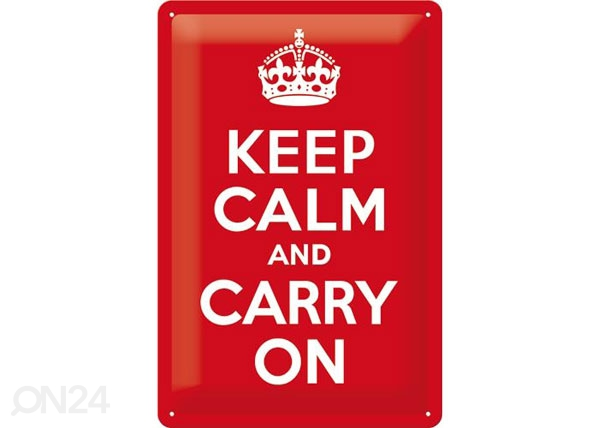 Retro metallposter Keep calm and carry on 20x30cm SG-78400