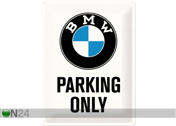 Retro metallposter BMW Parking Only 30x40cm SG-78405