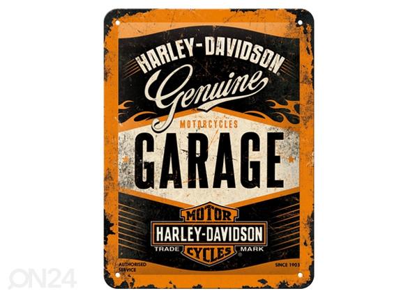 Retro metallposter Harley-Davidson Garage15x20 cm SG-80663