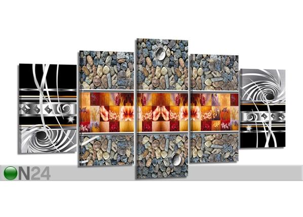 Viieosaline seinapilt Kivid ja mustrid 200x100 cm ED-80907