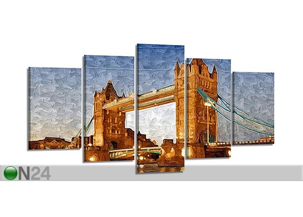 Viieosaline seinapilt London 200x100 cm ED-80913
