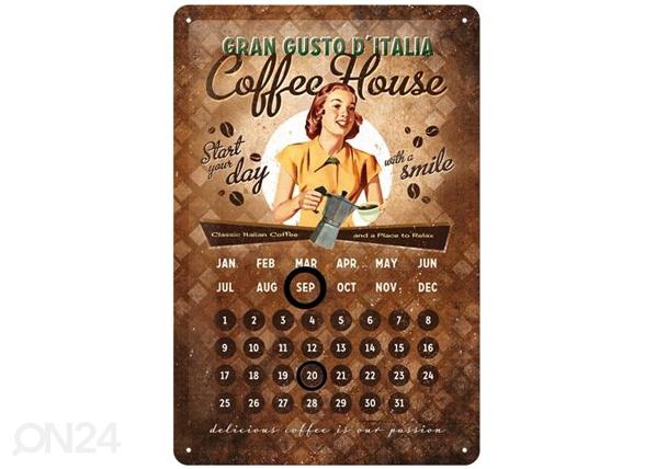 Retro metallkalender Coffee House 20x30cm SG-82358