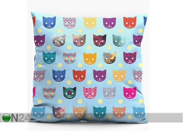 Dekoratiivpadi Funny Cats 38x38 cm CX-82523