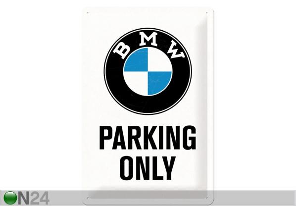 Retro metallposter BMW Parking only 20x30 cm SG-84339