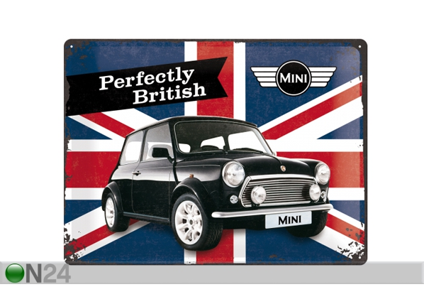 Retro metallposter Mini Perfectly British 30x40 cm SG-84356