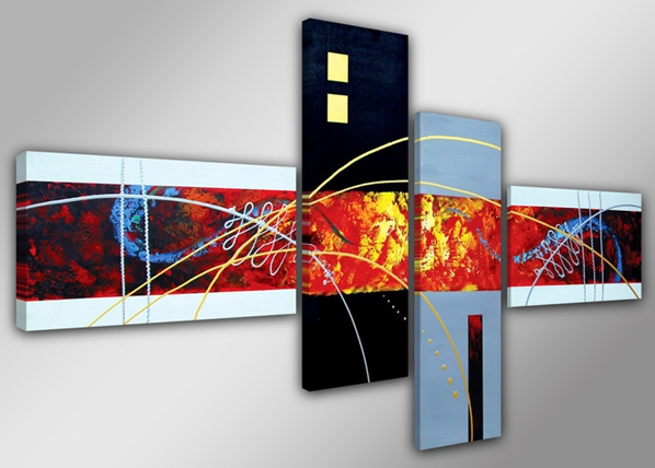 Neljaosaline seinapilt Optik 160x70 cm ED-86574