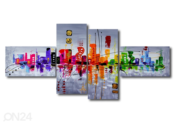 Neljaosaline seinapilt Optik 160x70 cm ED-86578