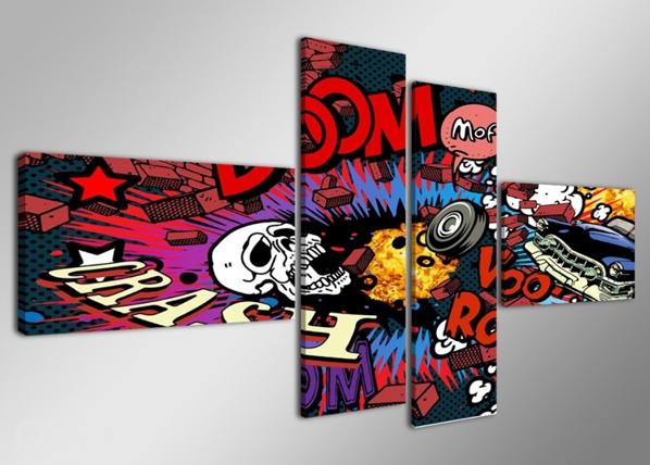 Neljaosaline seinapilt Graffiti 160x70 cm ED-86580