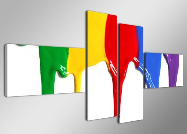 Neljaosaline seinapilt Värvid 160x70 cm ED-86582