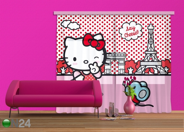 Kardin Hello Kitty with mouse 280x245 cm ED-87006