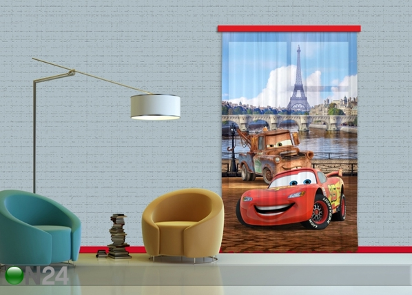 Fotokardin Disney cars Paris 140x245 cm ED-87183