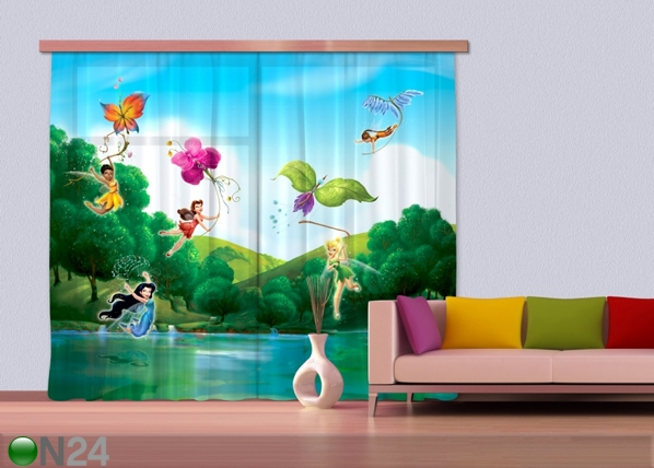 Poolpimedav fotokardin Disney Fairies with rainbow ED-87333
