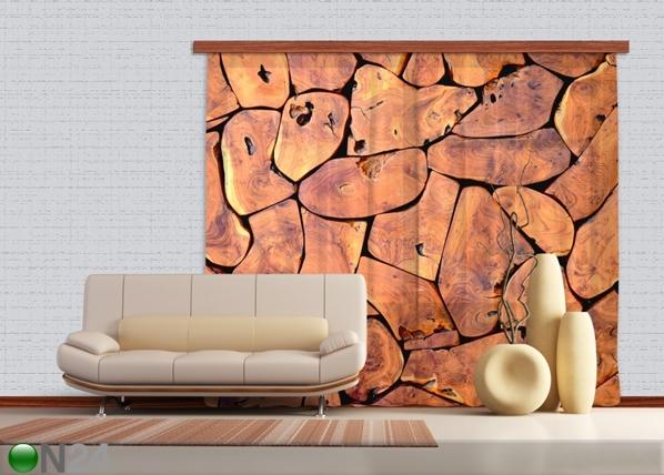 Poolpimendav fotokardin Wood 280x245 cm ED-87354