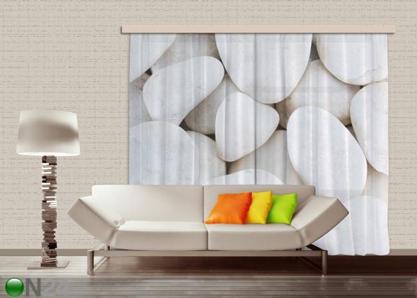 Poolpimendav fotokardin White stones 280x245 cm ED-87356