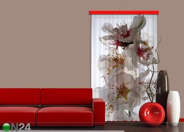 Poolpimendav fotokardin Flowers 140x245 cm ED-87445