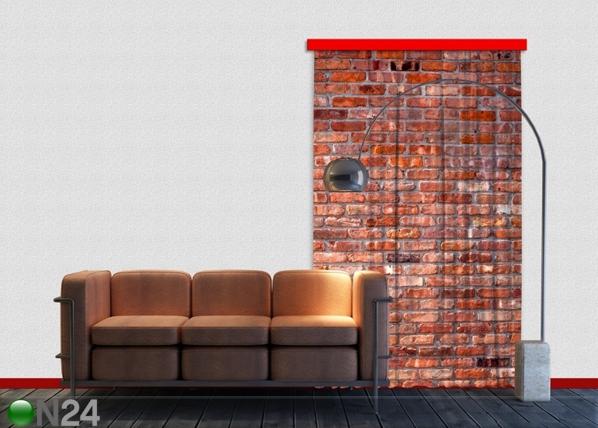 Poolpimendav fotokardin Red bricks 140x245 cm ED-87450