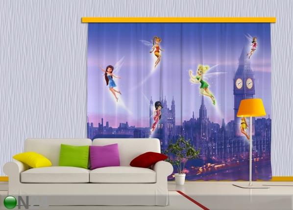 Pimendav fotokardin Disney fairies in London 280x245 cm ED-87458