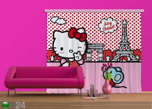 Pimendav fotokardin Hello Kitty with mouse 280x245 cm ED-87467