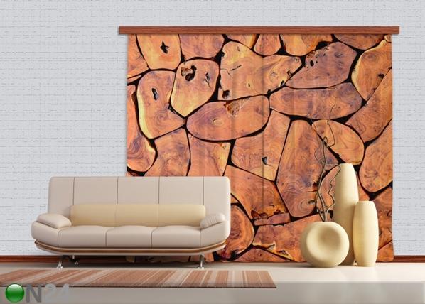 Pimendav fotokardin Wood 280x245 cm ED-87496