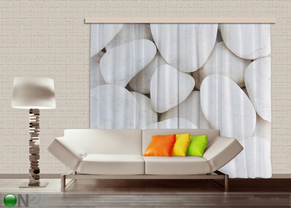 Pimendav fotokardin White stones 280x245 cm ED-87499