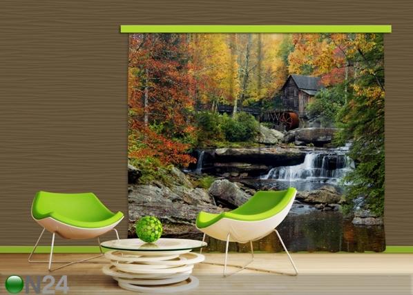 Pimendav fotokardin Watermill in autumn 280x245 cm ED-87503