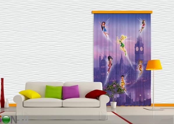Pimendav fotokardin Disney fairies in London I 140x245 cm ED-87831