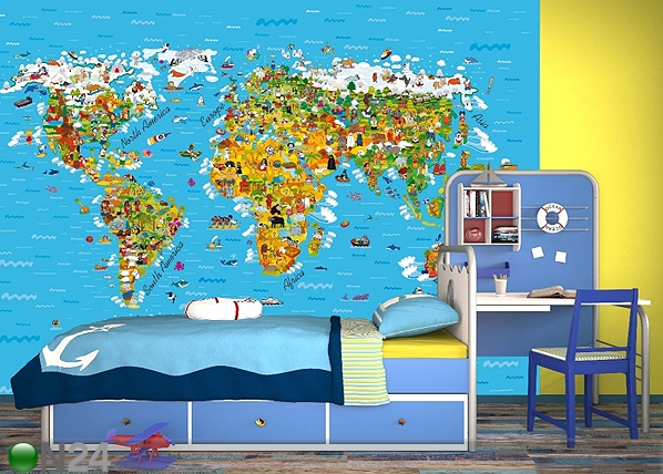 Fototapeet World map 360x254 cm ED-88018