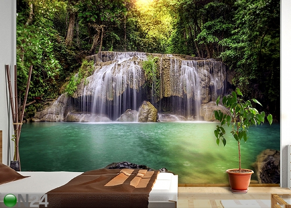 Fototapeet Waterfall in the tropics 360x254 cm ED-88032