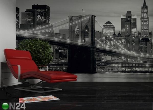 Fototapeet Brooklyn Bridge black and white 360x254 cm ED-88077