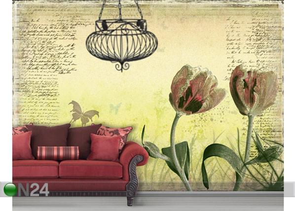 Fototapeet Spring tulips 400x280 cm ED-88136