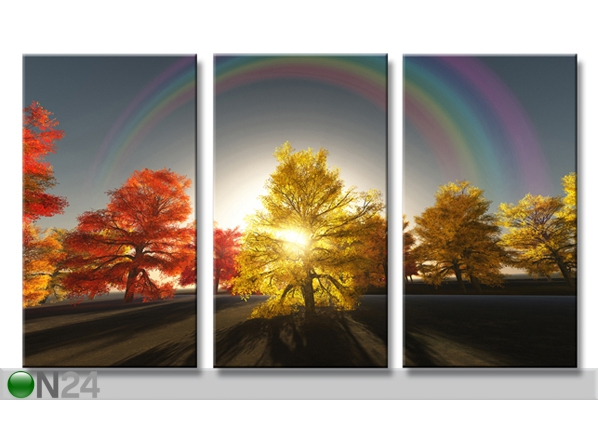 Kolmeosaline seinapilt Puud 160x90 cm ED-88883