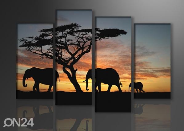 Neljaosaline seinapilt Aafrika 130x80 cm ED-88902